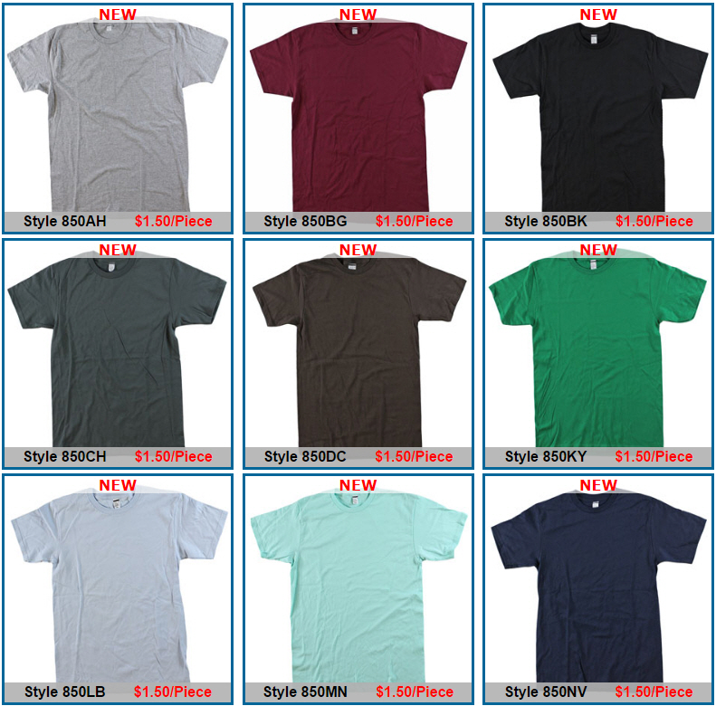 Adult First Quality T-Shirts - 15+ Colors - Sold By Color By Size - Price $1.50