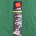 Closeout T-Shirts with Branded Adhesive Labels