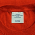 Hand Graded Irregular T-Shirt with Brand Label Removed, Care Label Intact