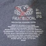 Mill Grade Irregular T-Shirt with Marked Out Tagless Fruit of the Looml Label