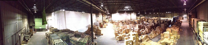 RG Riley Illinois Warehouse - Overhead View
