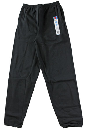 RGRiley | Youth Bulk Fleece Sweatpants Black | Hanes Closeout