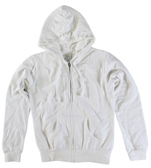 RGRiley.com | Womens Zipper Hood White | Closeout