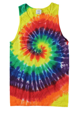 RGRiley | Mens Rainbow Tie Dye Tank Tops | Irregular