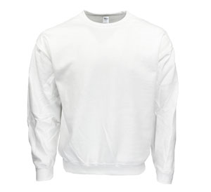 RGRiley | Gilden Mens White Crew Neck Sweatshirts | Irregular