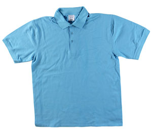 RGRiley | Adult Bulk Aquatic Blue Polo Shirts | Irregular