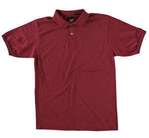 RGRiley | Adult Bulk Burgandy Polo Shirts | Irregular
