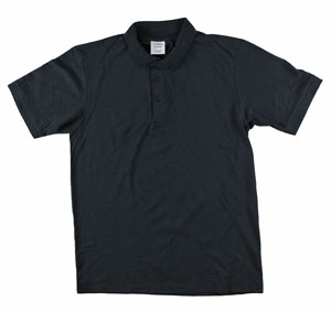 RGRiley | Adult Bulk Black Polo Shirts | Irregular