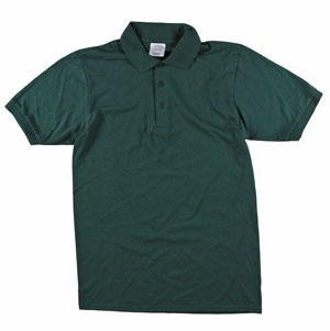 RGRiley | Adult Bulk Forest Green Polo Shirts | Irregular