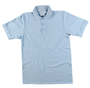 RGRiley | Adult Bulk Light Blue Polo Shirts | Irregular