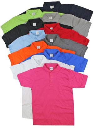 RGRiley | Adult Bulk Mixed Colors Polo Shirts | Irregular