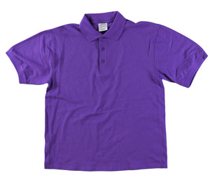 RGRiley | Adult Bulk Purple Polo Shirts | Irregular