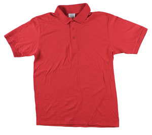 RGRiley | Adult Bulk Red Polo Shirts | Irregular