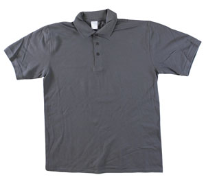 RGRiley | Adult Bulk Smoke Grey Polo Shirts | Irregular