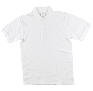 RGRiley | Adult Bulk White Polo Shirts | Irregular