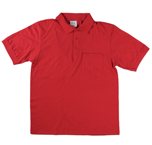 RGRiley | Mens Red Polo Shirts With Pocket | Irregular