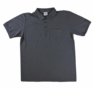 RGRiley | Mens Smoke Grey Pocket Polo Shirts | Irregular