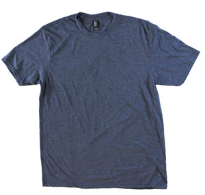 RGRiley.com | Adult Bulk Tri-Blend Navy Frost T-Shirt | Closeout
