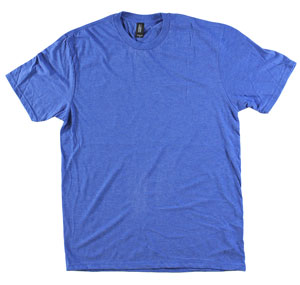 RGRiley.com | Adult Bulk Tri-Blend Royal Blue Frost T-Shirt | Closeout