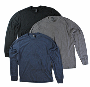 RGRiley | Mens Long Sleeve Tri-Blend T-Shirts | Irregular