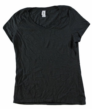 RGRiley | Bulk Womens Tr-Blend Black T-Shirts | Closeout