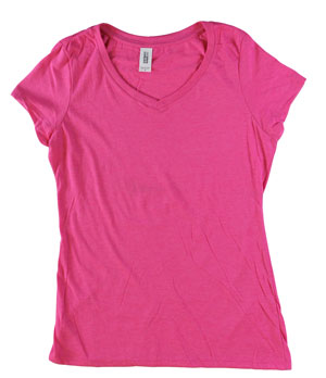 RGRiley | Bulk Womens Ty-Blend Fuchsia Frost T-Shirts | Closeout
