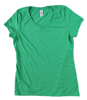 RGRiley | Bulk Womens Ty-Blend Green Frost T-Shirts | closeout
