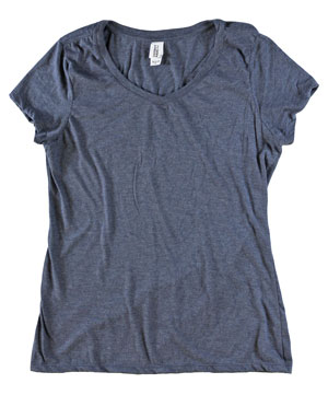 RGRiley | Bulk Womens Ty-Blend Navy Frost T-Shirts | Closeout