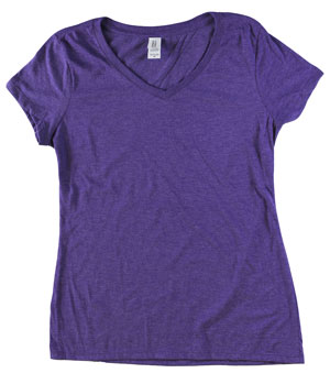 RGRiley | Bulk Womens Ty-Blend Purple Frost T-Shirts | Closeout