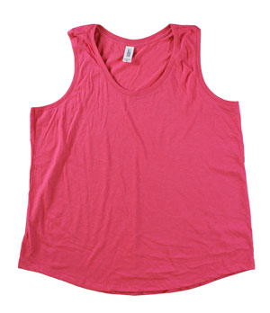 RGRiley | Womens Fuchsia Frost Tri Blend Tank Tops | Irregular