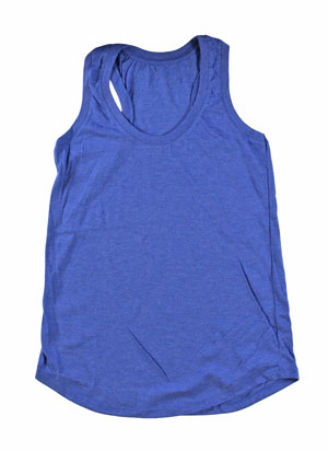 RGRiley | Womens Royal Frost Tri Blend Tank Tops | Irregular