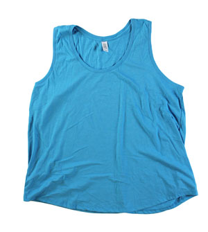 RGRiley | Womens Turquoise Frost Tri Blend Tank Tops | Irregular