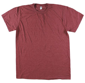 RGRiley | Mens Tear Away Label Burgandy Heather T-Shirts | Closeout