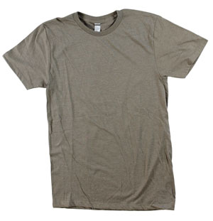 RGRiley.com | Mens Tear Away Label Brown Heather T-Shirts | Closeout