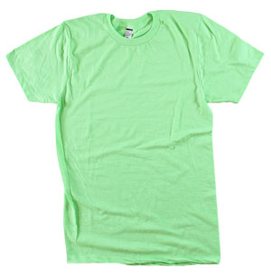 RGRiley.com | Mens Tear Away Label Neon Green T-Shits | Closeout
