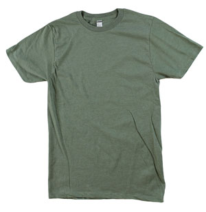 RGRiley.com | Mens Tear Away Label Olive Heather T-Shits | Closeout