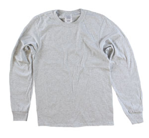RGRiley | Adult Bulk Long Sleeve Ash T-shirts | Irregular
