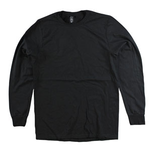 RGRiley | Adult Bulk Long Sleeve Black T-shirts | Irregular