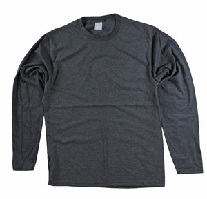 RGRiley | Adult Bulk Long Sleev Charcoal T-shirts | Irregular