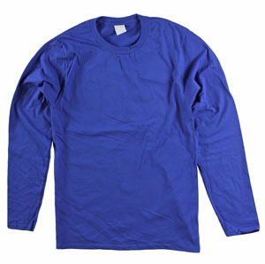 RGRiley | Adult Bulk Long Sleeve Dark Royal T-shirts | Irregular