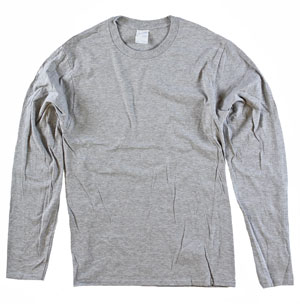RGRiley | Mens Heather Grey Long Sleeve T-Shirts | Irregular