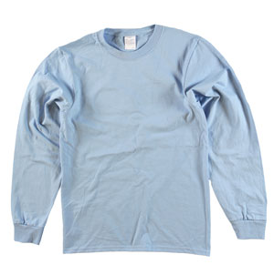 RGRiley | Adult Bulk Long Sleeve Light Blue T-shirts | Ireggular