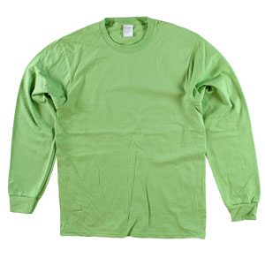 RGRiley | Adult Bulk Long Sleeve Lime T-shirts | Irregular