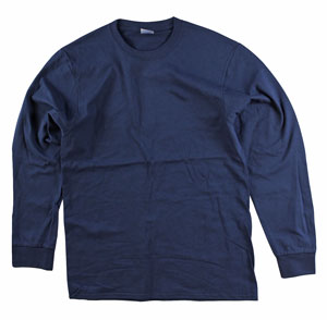 RGRiley | Adult Bulk Long Sleeve Navy T-shirts | Irregular