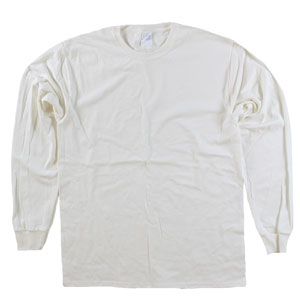 RGRiley | Mens Off White Long Sleeve T-Shirts | Irregular