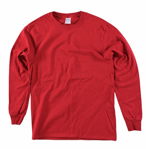 RGRiley | Mens Red Long Sleeve T-Shirts | Irregular