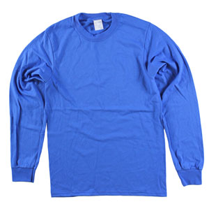 RGRiley | Adult Bulk Long Sleeve Royal T-shirts | Irregular
