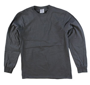 RGRiley | Adult Bulk Long Sleeve Smoke Grey T-shirts | Irregular