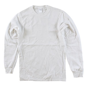 RGRiley | Adult Bulk Long Sleeve White T-shirts | Irregular