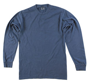 RGRiley | Adult Bulk Long Sleeve Denim T-Shirts | Irregular